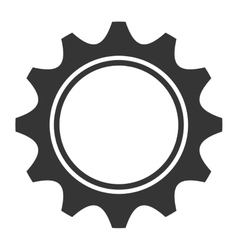 Gearcog or wheel isolated icon vector