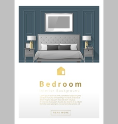 Interior design Modern bedroom banner 3 vector image