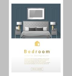 Interior design Modern bedroom banner 3 vector image vector image