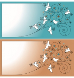 invitation with birds vector image vector image