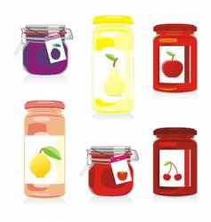 jam jars set vector image vector image