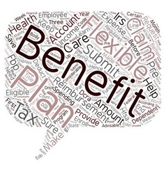 Learn the tax benefits of a flexible benefits plan vector