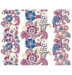 Mehndi ribbons Paisley design vector image vector image