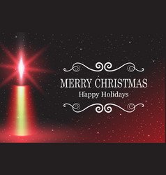 merry christmas candle flame vector image vector image