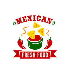 Mexican food restaurant menu icon vector