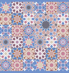 mosaic tile background vector image vector image