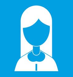 Mother icon white vector