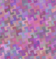 Multicolor curved puzzle pattern background design vector