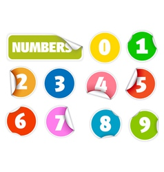 number stickers vector image vector image