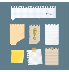 Paper notes sheet for message vector