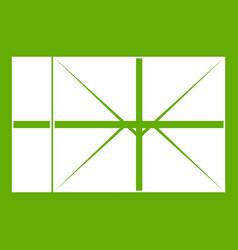 postal parcel icon green vector image vector image