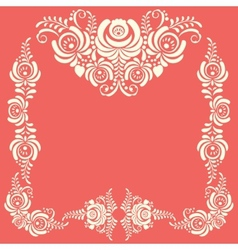 Russian ornaments art frames in gzhel style Gzhel vector image vector image