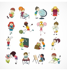 School kids doodle sketch vector