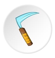 Scythe icon cartoon style vector