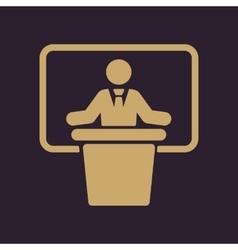 The speech icon speak and broadcaster orator vector