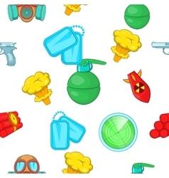 War equipment pattern cartoon style vector