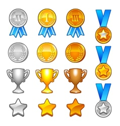 Winter sport awards vector