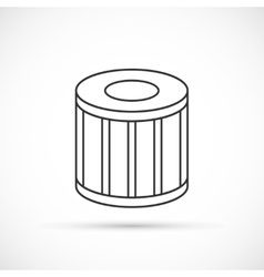 Car oil filter outline icon vector image