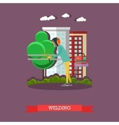 professional welder flat vector image