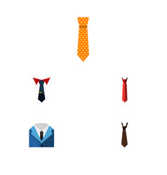 Flat icon clothing set of clothing tie style and vector
