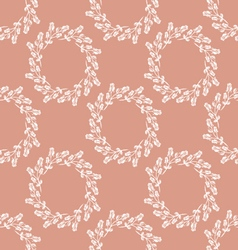 Seamless pattern wreath of roses vector