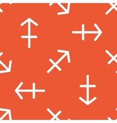 Orange sagittarius pattern vector