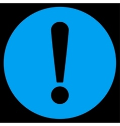 Problem flat blue color icon vector