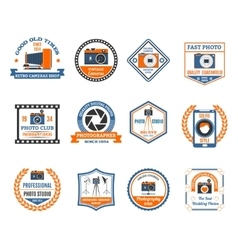 Photography Emblems Set vector image