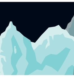 Mountain landscape glaciers flat background vector
