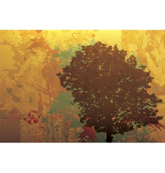 Grunge autumn background vector