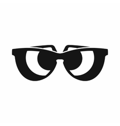 Sunglasses icon simple style vector image