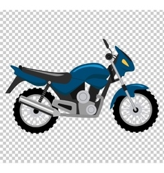 Cool motorcycle isolated on white background vector