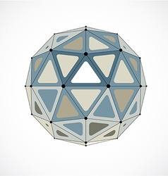 Abstract low poly object with black lines and dots vector image
