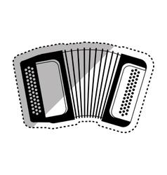 Accordion music instrument vector