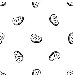 beef steak pattern seamless black vector image vector image