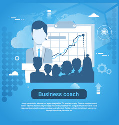 business coach template web banner with copy space vector image