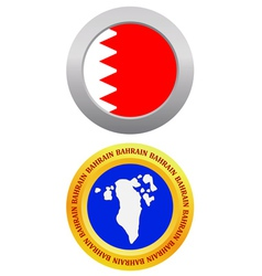 button as a symbol BAHRAIN vector image