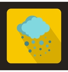 Cloud with hail icon in flat style vector