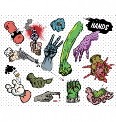 comic book hands vector image vector image