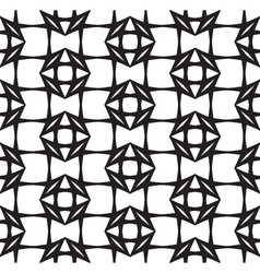 Diamonds black and white abstract seamless pattern vector