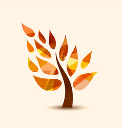 Fall tree symbol concept design for nature help vector