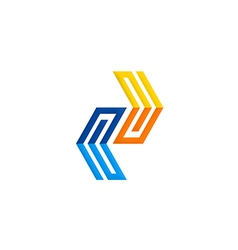 geometry shape technology logo vector image vector image