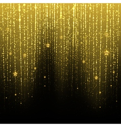 Golden starry rain vector image