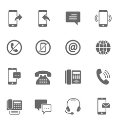 Icon set - communication vector image vector image