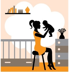 joys of motherhood vector image vector image