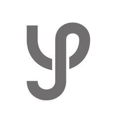 Letter Y Logo Concept Icon vector image