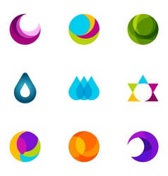 logo design elements set 14 vector image