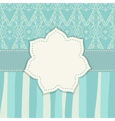 monochrome background with a floral frame vector image vector image