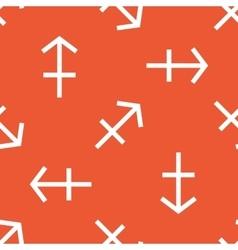 Orange Sagittarius pattern vector image