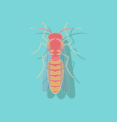 Paper sticker on background of wasp vector